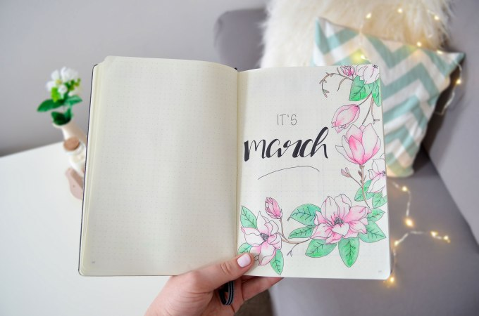 Bullet Journal March Lily's Colours